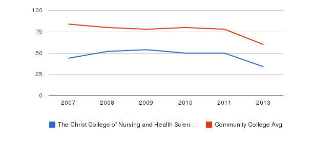 The Christ College of Nursing and Health Sciences Total Faculty&nbsp(2007-2013)