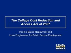 The College Cost Reduction and Access Act of 2007