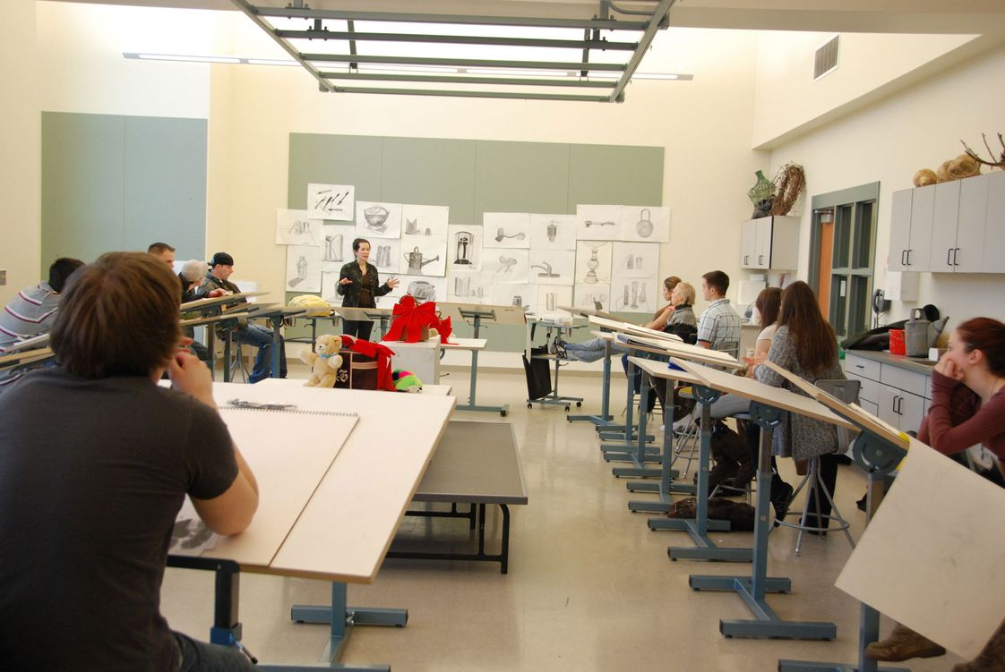 Tunxis Community College Photo - A class in progress in the art studio, which was part of the new construction at Tunxis Community College.