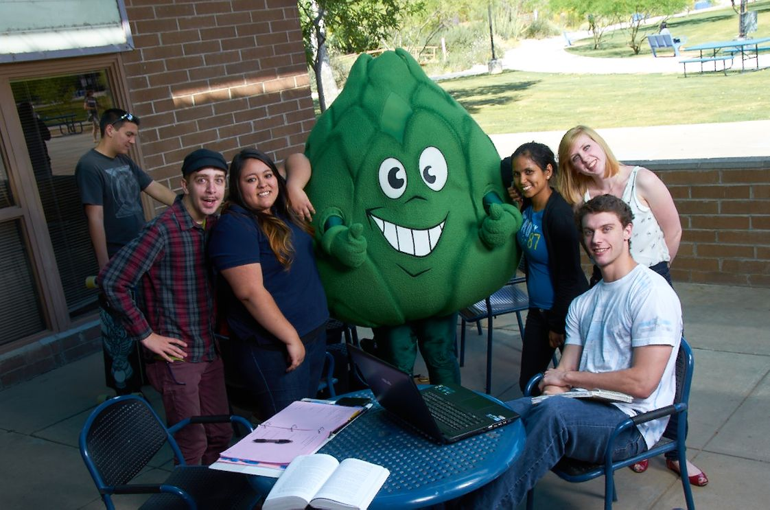 Scottsdale Community College Photo - Artie the Artichoke is the beloved mascot of Scottsdale Community College. Athletic teams are known as the Fighting Artichokes.