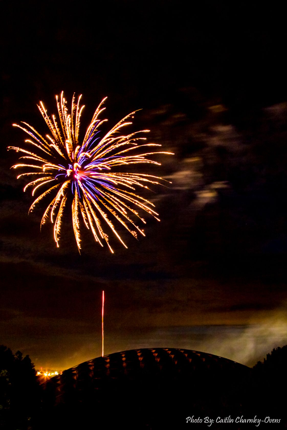 Walla Walla Community College Photo #1 - The Fourth of July is celebrated with fireworks over the Dietrich Dome on Walla Walla Community College's campus
