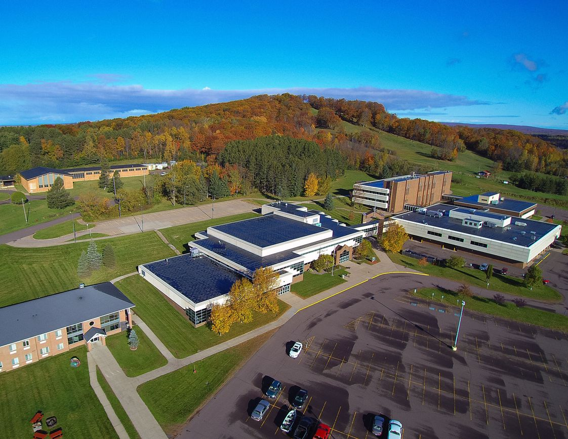 Gogebic Community College Photo #1 - Aerial view of the main campus in Ironwood, MI