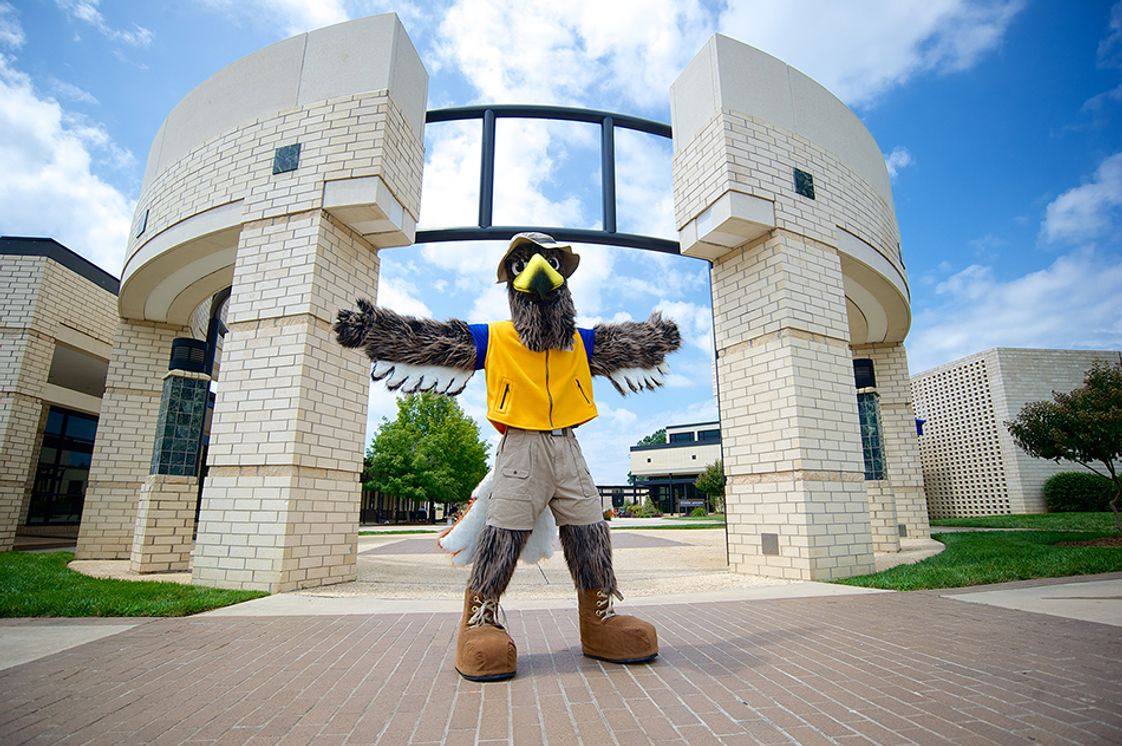 Rowan-Cabarrus Community College Photo - Beacon, our mascot, on North Campus
